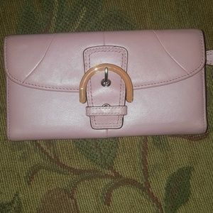 Pink Coach wallet used x3